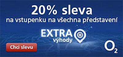 O2 extra výhoda v Divadle Palace Praha: 20% sleva na vstupenky na všechna představení