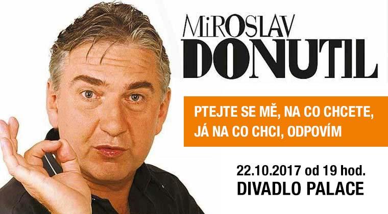 Miroslav Donutil: Ptejte se mě, na co chcete, já na co chci, odpovím