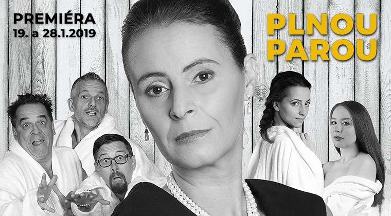 René Heinersdorff: Plnou parou. Hrají: Lenka Vlasáková, Miroslav Etzler, Jan Dolanský, Petra Horvátová / Alena Doláková a Richard ...
