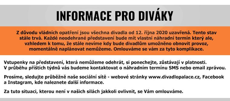 Informace pro diváky k 8.1.2021